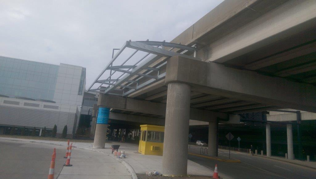 Installed Airport Canopy