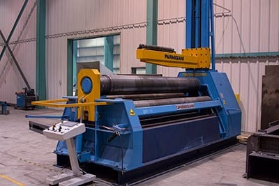 Parmigiani Sheet Metal roller at Swanton Welding