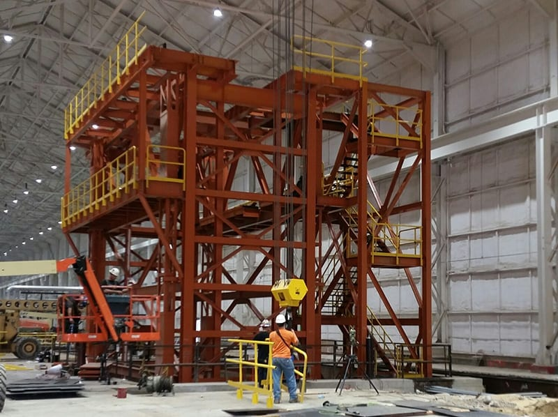 Accumulator Tower for Metal Coating Process