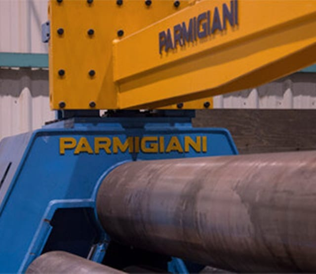 Parmigiani metal forming and rolling machine