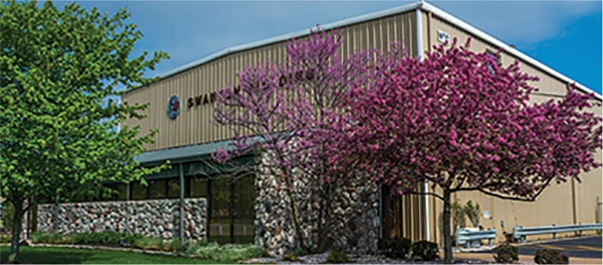 Building at Swanton Welding's Headquarters